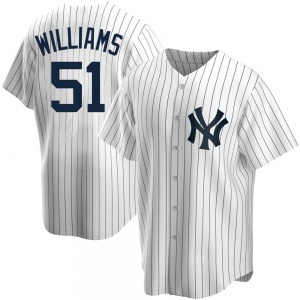 Youth New York Yankees Bernie Williams Replica White Home Jersey