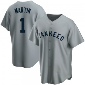 Youth New York Yankees Billy Martin Replica Gray Road Cooperstown Collection Jersey