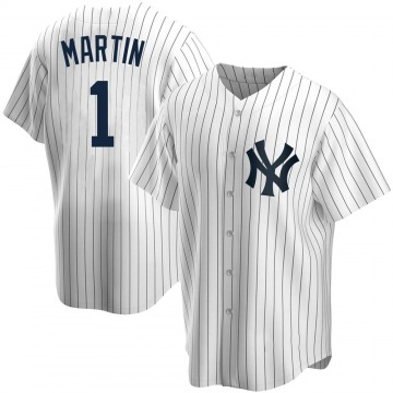 Youth New York Yankees Billy Martin Replica White Home Jersey