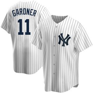 Youth New York Yankees Brett Gardner Replica White Home Jersey