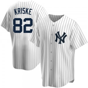 Youth New York Yankees Brooks Kriske Replica White Home Jersey