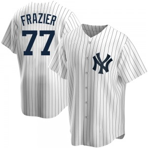 Youth New York Yankees Clint Frazier Replica White Home Jersey