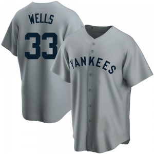 Youth New York Yankees David Wells Replica Gray Road Cooperstown Collection Jersey
