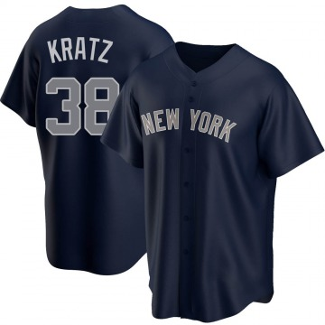 Youth New York Yankees Erik Kratz Replica Navy Alternate Jersey