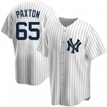 Youth New York Yankees James Paxton Replica White Home Jersey