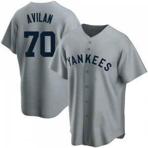 Youth New York Yankees Luis Avilan Replica Gray Road Cooperstown Collection Jersey