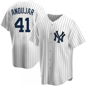 Youth New York Yankees Miguel Andujar Replica White Home Jersey