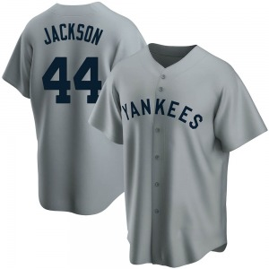 Youth New York Yankees Reggie Jackson Replica Gray Road Cooperstown Collection Jersey