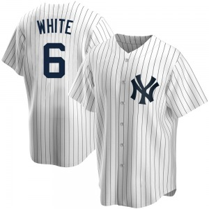 Youth New York Yankees Roy White Replica White Home Jersey