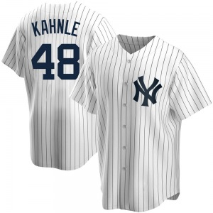 Youth New York Yankees Tommy Kahnle Replica White Home Jersey