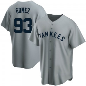 Youth New York Yankees Yoendrys Gomez Replica Gray Road Cooperstown Collection Jersey
