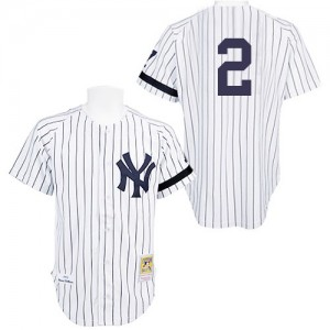 Men's Mitchell and Ness New York Yankees Derek Jeter Authentic White Practice Throwback Jersey