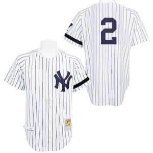 Men's Mitchell and Ness New York Yankees Derek Jeter Replica White Practice Throwback Jersey