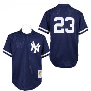 Men's Mitchell and Ness New York Yankees Don Mattingly Authentic Blue 1995 Throwback Jersey