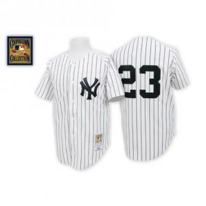 Men's Mitchell and Ness New York Yankees Don Mattingly Authentic White Throwback Jersey