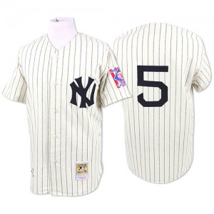 Men's Mitchell and Ness New York Yankees Joe DiMaggio Authentic White 1939 Throwback Jersey