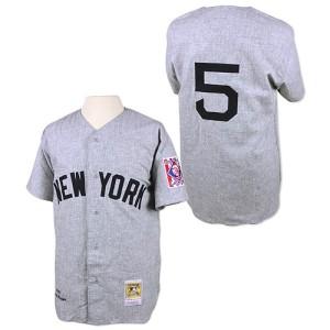 Men's Mitchell and Ness New York Yankees Joe DiMaggio Replica Grey 1939 Throwback Jersey