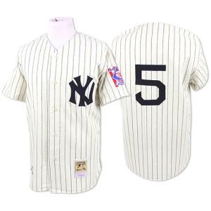 Men's Mitchell and Ness New York Yankees Joe DiMaggio Replica White 1939 Throwback Jersey