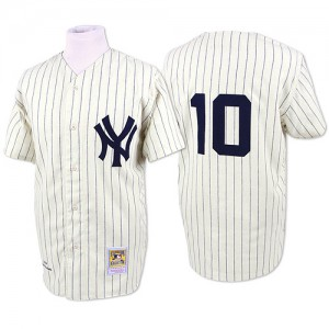 Men's Mitchell and Ness New York Yankees Phil Rizzuto Replica White Throwback Jersey