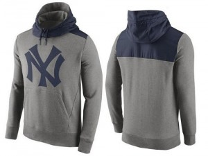 Men's Nike New York Yankees Gray Cooperstown Collection Hybrid Pullover Hoodie