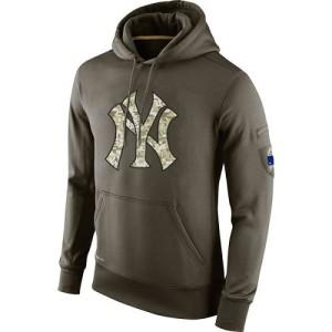 Men's Nike New York Yankees Olive Salute To Service KO Performance Hoodie