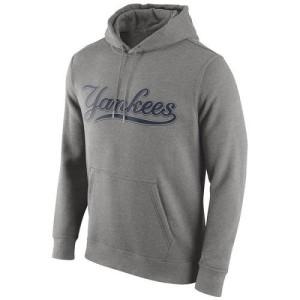 Men's Nike New York Yankees Gray Club Pullover Hoodie -
