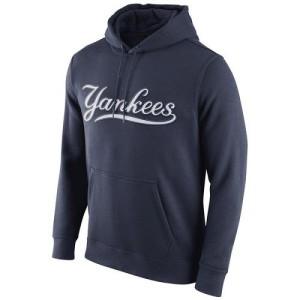Men's Nike New York Yankees Navy Blue Club Pullover Hoodie -