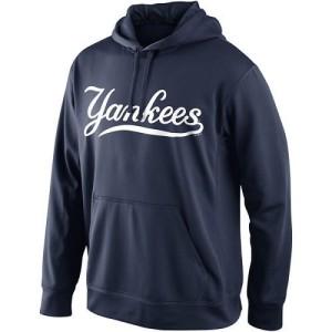 Men's Nike New York Yankees Navy KO Wordmark Perfomance Hoodie -