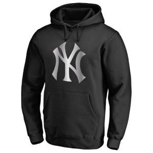 Men's New York Yankees Black Platinum Collection Pullover Hoodie -