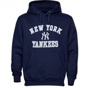 Men's New York Yankees Navy Blue Stitches Fastball Fleece Pullover Hoodie -
