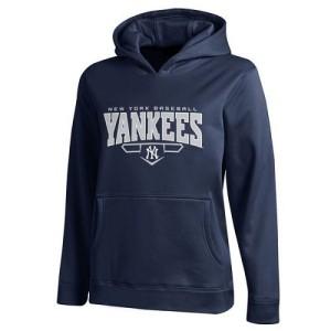 Men's Under Armour New York Yankees Navy Fleece Hoodie -
