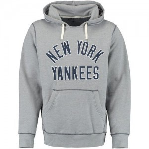 Men's Under Armour New York Yankees Gray Legacy Fleece Hoodie -