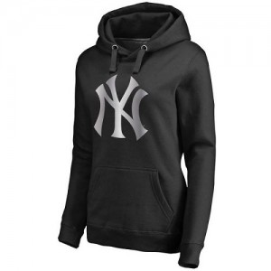 Women's New York Yankees Black Platinum Collection Pullover Hoodie -