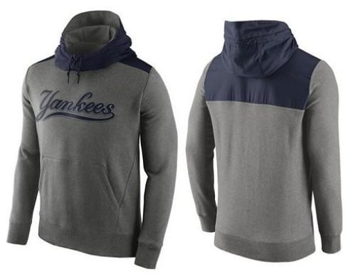 Men's Nike New York Yankees Gray Hybrid Hoodie